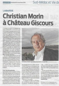 Sud-Ouest 16_11_2018